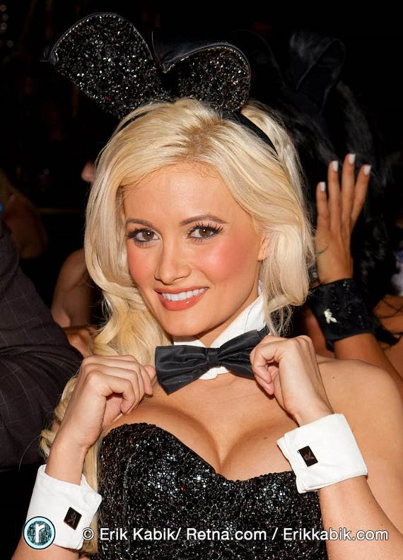 Holly Madison in bunny dealer costume at Playboy Club