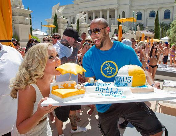 Kendra Wilkinson-Baskett and Hank Baskett celebrated her birthday in Las Vegas with parties at Venus Pool Club and Pure Nightclub at Caesars Palace