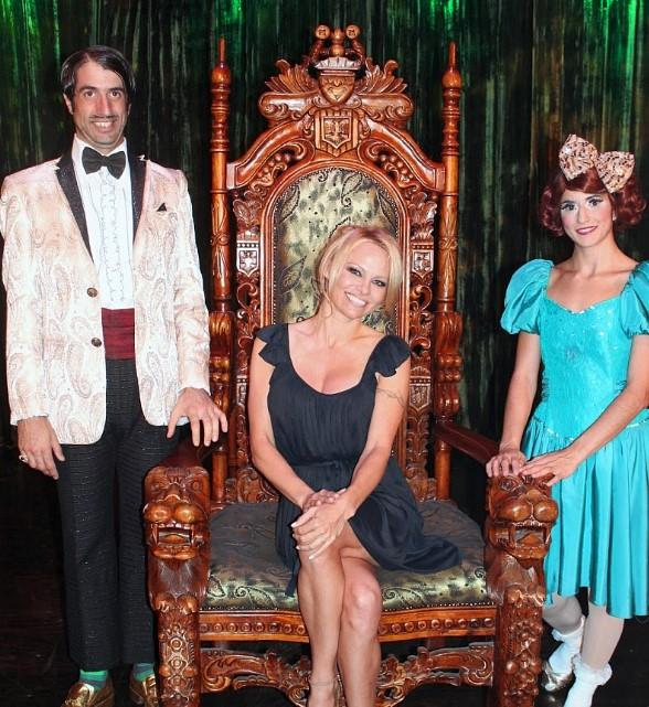 Pamela Anderson Takes in ABSINTHE at Caesars Palace in Las Vegas