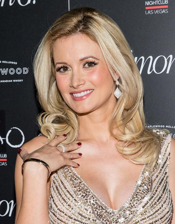 Holly Madison on red carpet at Simon G Soiree in TAO Las Vegas