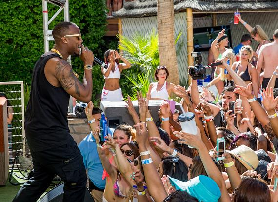 B.o.B performs at REHAB Pool Party at Hard Rock Hotel & Casino in Las Vegas