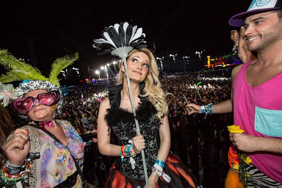 Holly Madison at Electric Daisy Carnival