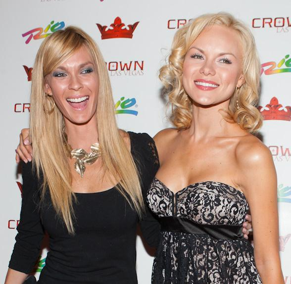 Iron Man 2 Actresses Jasmine Dustin and Anya Monzikova at Crown Nightclub