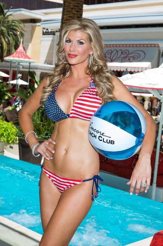 """Alexis Bellino from """"The Real Housewives of Orange County"""" Parties at Encore Beach Club"""