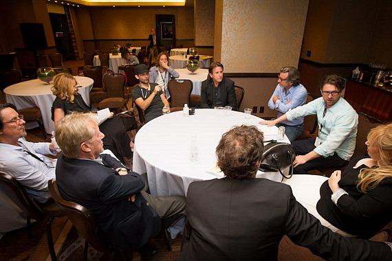 Judges discuss the competition and decide on the winner with John Polson, Tobey Maguire, Toni Collette, Rebel Wilson, Anthony LaPaglia, Griffin Dunne, Charles Randolph, Trevor Groth, James Woods