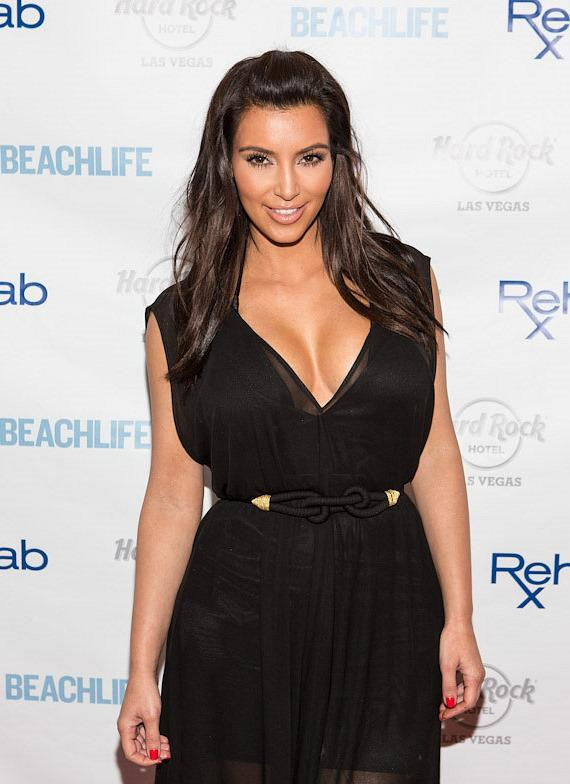 Kim Kardashian on the red carpet at REHAB at Hard Rock Hotel & Casino