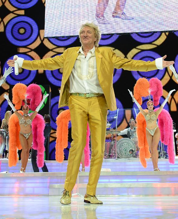 "Rod Stewart Celebrates 100th Performance of his Las Vegas Residency ""Rod Stewart: The Hits."" at The Colosseum at Caesars Palace"