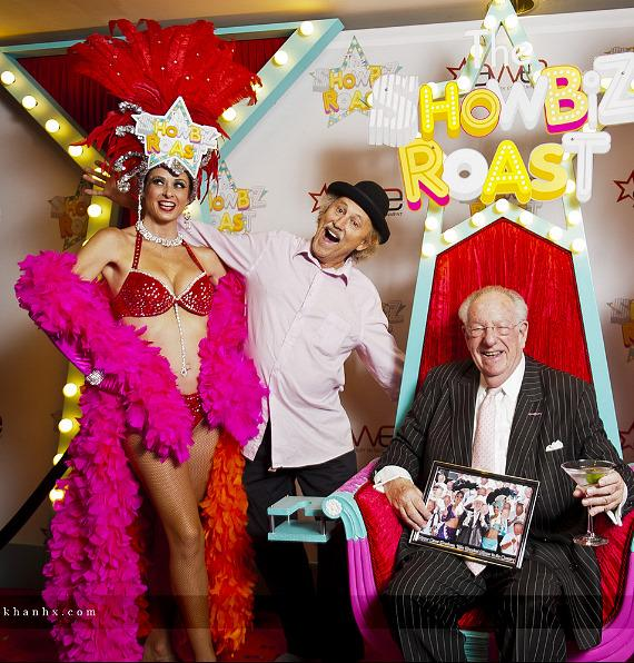 Las Vegas showgirl with Gallagher and Oscar Goodman