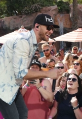 Flamingo Las Vegas' Go Pool Dayclub Goes Country with ACM Pool Party for a Cause; Chase Rice and Craig Campbell Play to Packed Crowd