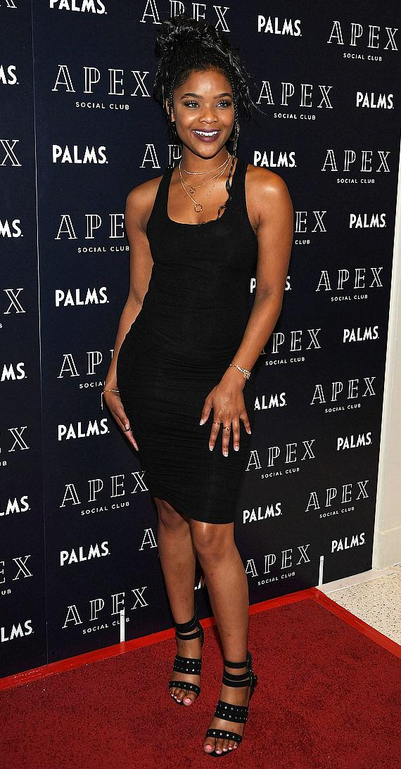 """13 Reasons Why"" star Ajiona Alexus at Grand Opening of APEX Social Club at Palms Casino Resort in Las Vegas"