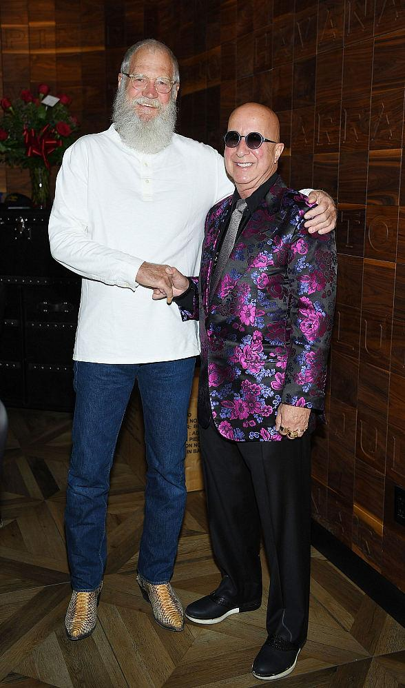 David Letterman Joins Paul Shaffer at Cleopatra's Barge at Caesars Palace Las Vegas