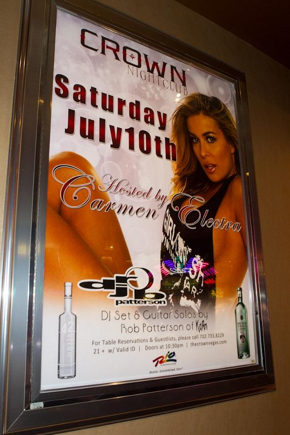 Carmen Electra Hosts at Crown Nightclub