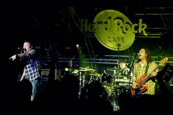 Smash Mouth performs at Hard Rock Cafe on the Strip in Las Vegas
