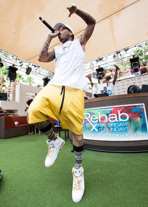 Rapper Kid Ink performs at REHAB at Hard Rock Hotel Las Vegas