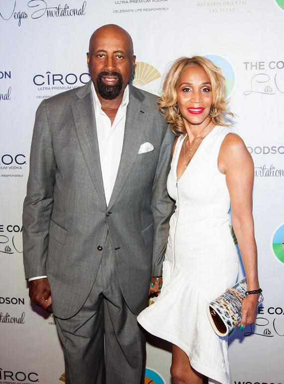 Los Angeles Clippers Assistant Coach Mike Woodson with wife Terri