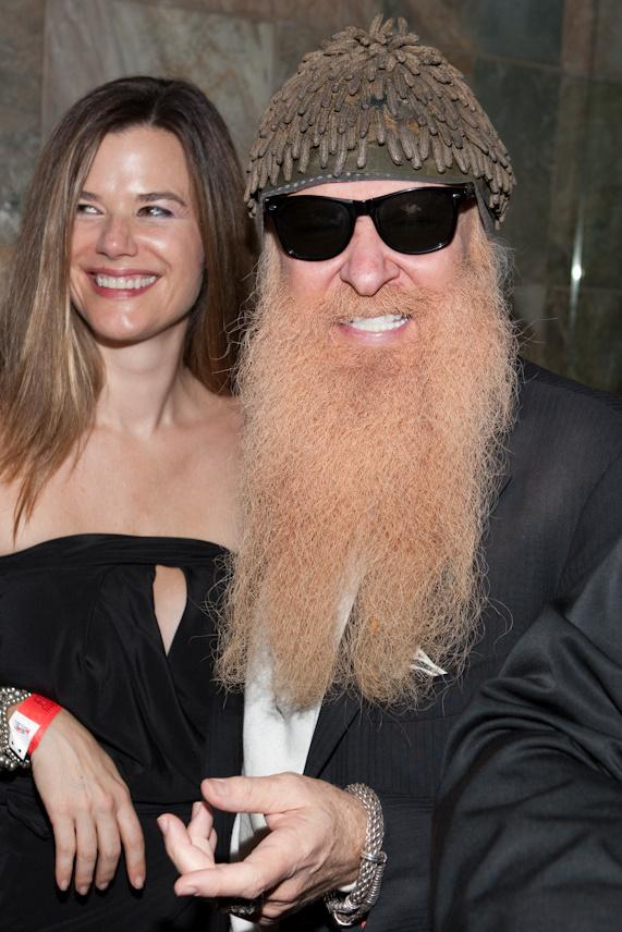 Billy Gibbons of ZZ Top and wife Gilligan Gibbons at JET Nightclub