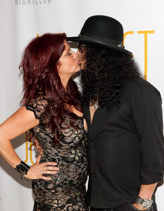 Slash and wife Perla Hudson at JET Nightclub