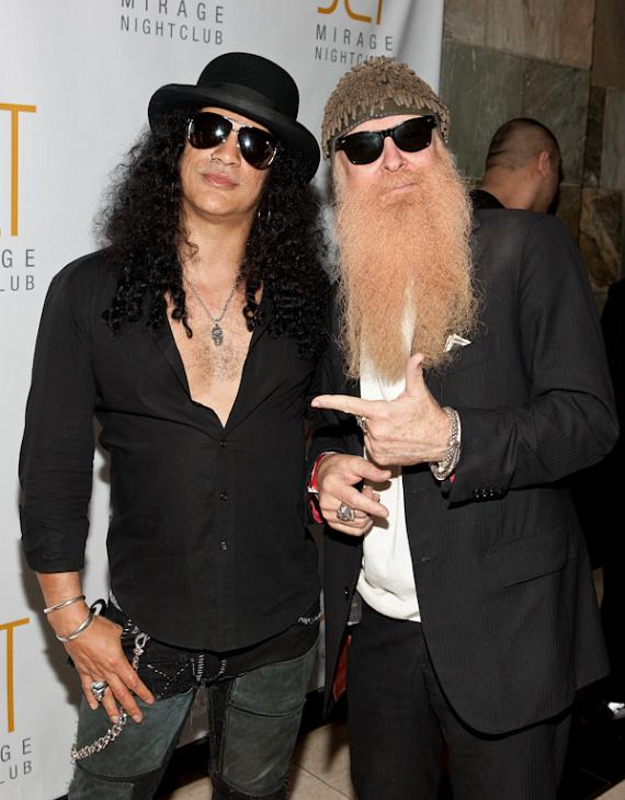 Slash and Billy Gibbons of ZZ Top at JET Nightclub