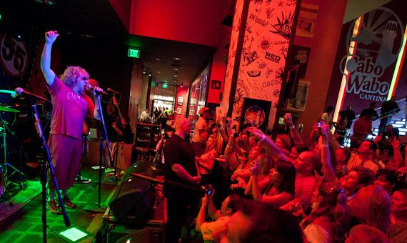 Sammy Hagar performs at Cabo Wabo Cantina in Las Vegas