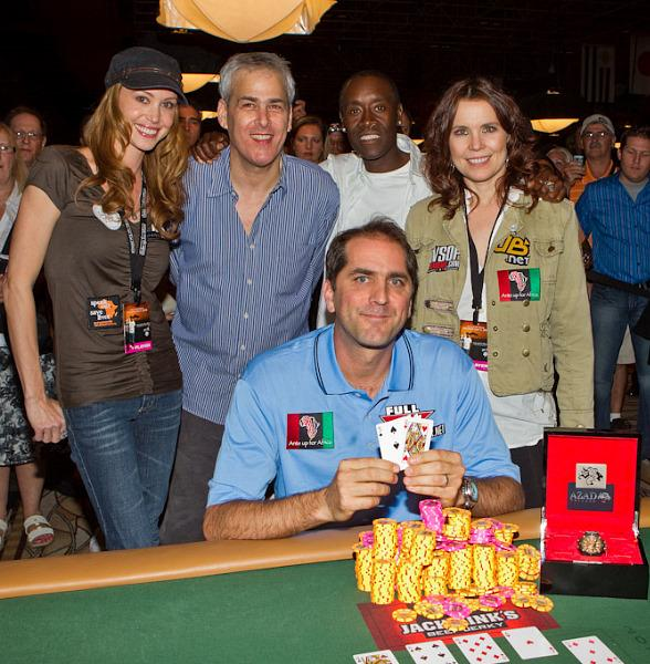 Shannon Elizabeth, Norman Epstein, Don Cheadle, Annie Duke and Tournament Champ Phil Gordon