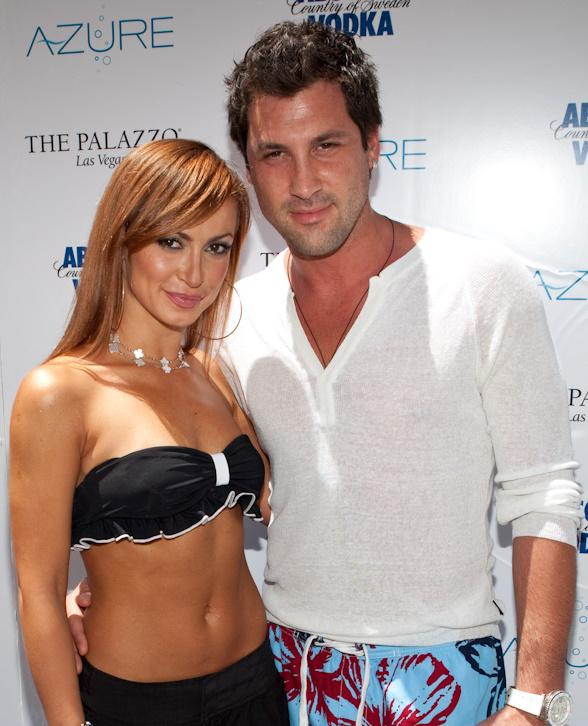 Karina Smirnoff and Maksim Chmerkovskiy from Dancing With the Stars at AZURE