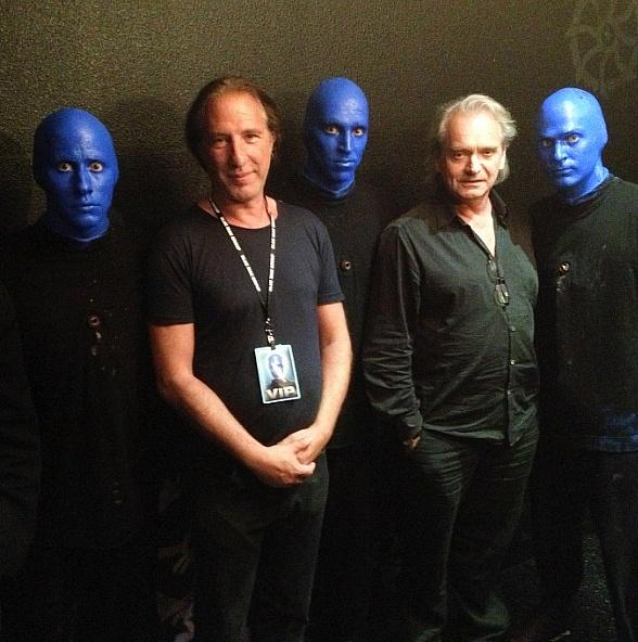 Jack Hues and Nick Feldman of Wang Chung Attend Blue Man Group at Monte Carlo Resort and Casino