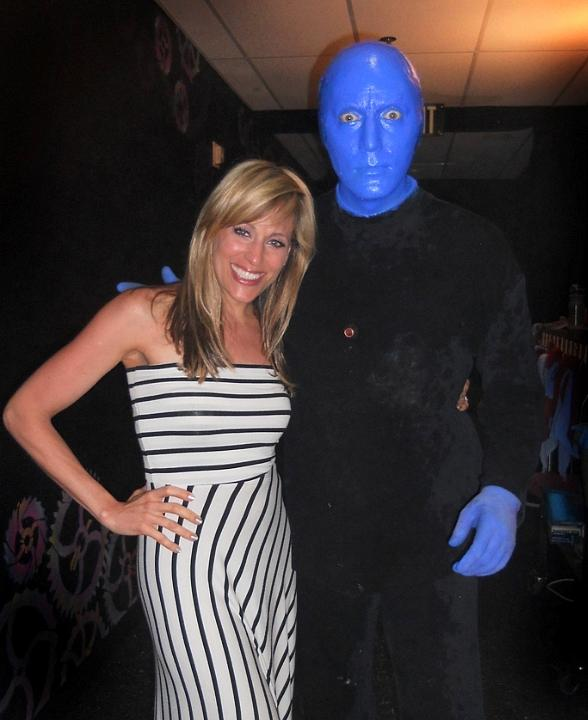 Singer and WWE Diva Lilian Garcia Spotted at Blue Man Group