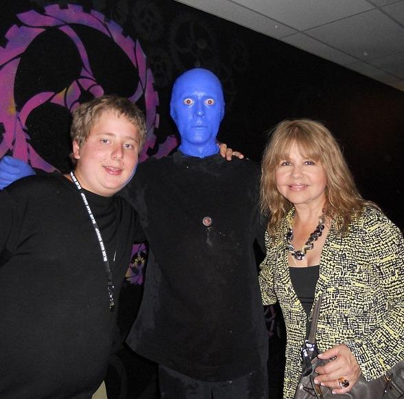 Pia Zadora and her son at Blue Man Group at Monte Carlo Resort and Casino in Las Vegas