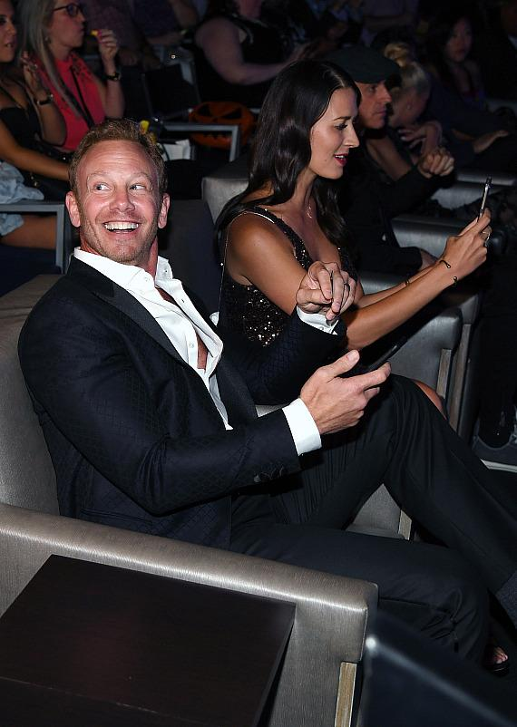 Actor Ian Ziering (L) and his wife Erin Kristine Ludwig attend the premiere of 'Sharknado 5: Global Swarming' at The LINQ Hotel & Casino on August 6, 2017 in Las Vegas, Nevada