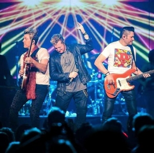 "Live Nation Las Vegas congratulates our friends Rascal Flatts on their 17th #1 single, ""Yours If You Want It."""