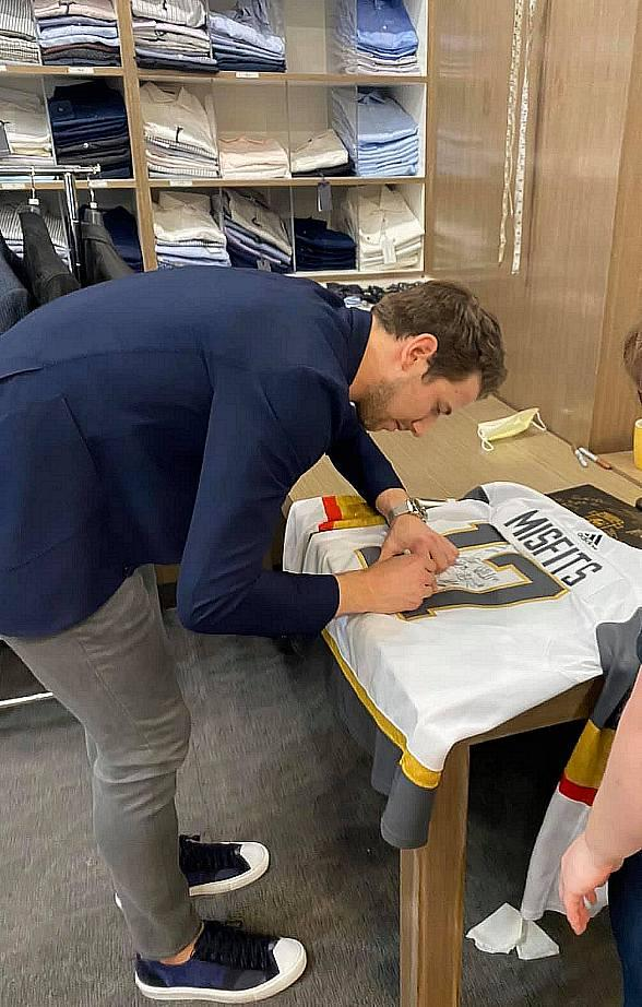 Shea Theodore's First Vegas Golden Knights Meet and Greet at Mastroianni Fashions at Boca Park Fashion Village