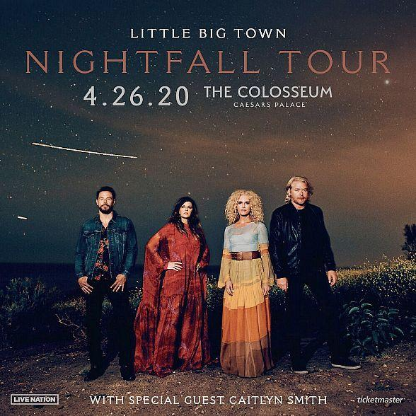 """Grammy Award-Winning Vocal Group Little Big Town Announce Ninth Studio Album """"Nightfall"""" and Headline Tour Coming to the Colosseum at Caesars Palace April 26, 2020"""