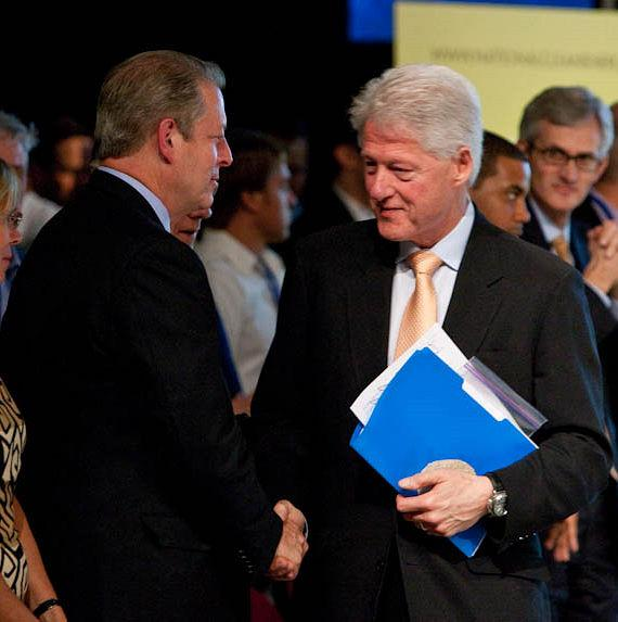 Vice President Al Gore and President Bill Clinton