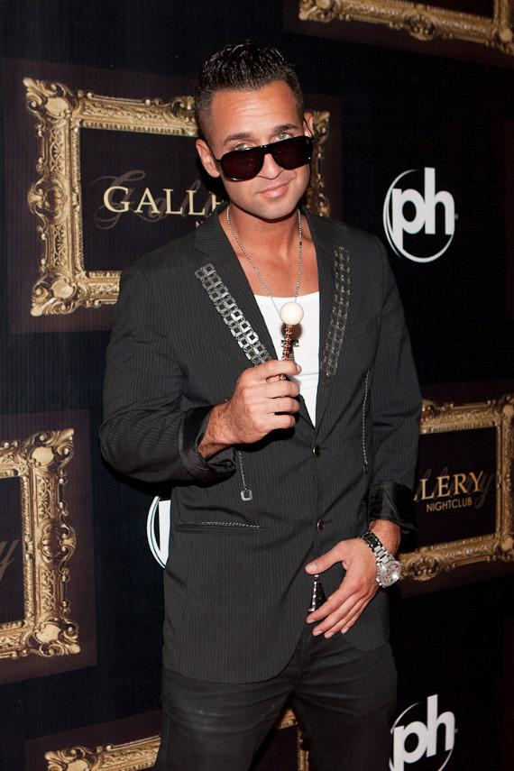 """Mike """"The Situation"""" Sorrentino arrives at Gallery Nightclub in Planet Hollywood"""