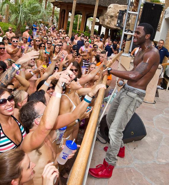 Jason Derulo performs at Revel Pool Party at Hard Rock Beach Club