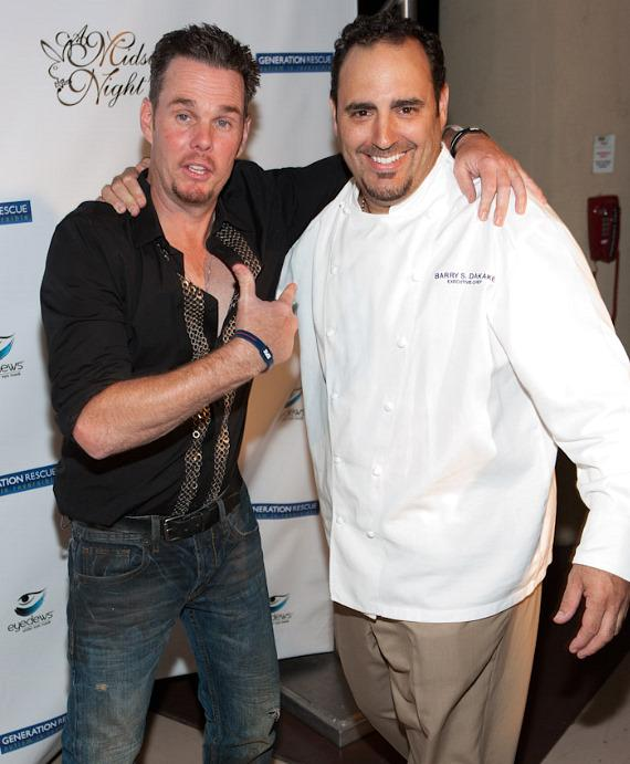 Kevin Dillon and Barry S. Dakake, executive chef of N9NE Steakhouse