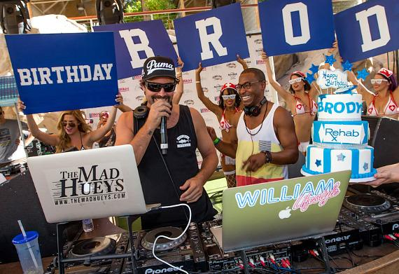 Brody Jenner celebrates birthday and DJs with William Lifestyle at REHAB at Hard Rock Hotel & Casino