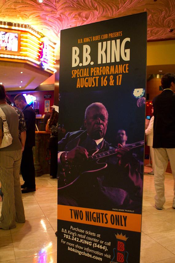B.B. King performs at B.B. King's Blues Club at The Mirage on August 17, 2010