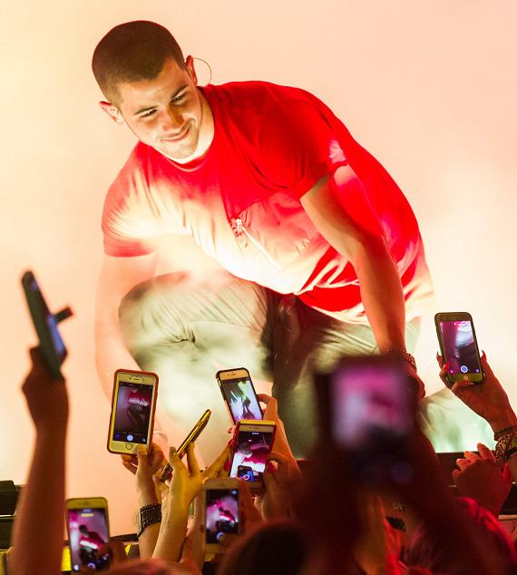 Nick Jonas performs at Drai's Nightclub on August 1