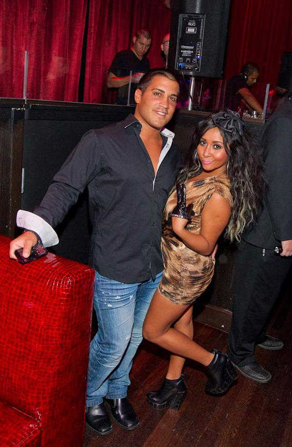 "Jionni LaValle and Nicole ""Snooki"" Polizzi of Jersey Shore at LAX Nightclub"