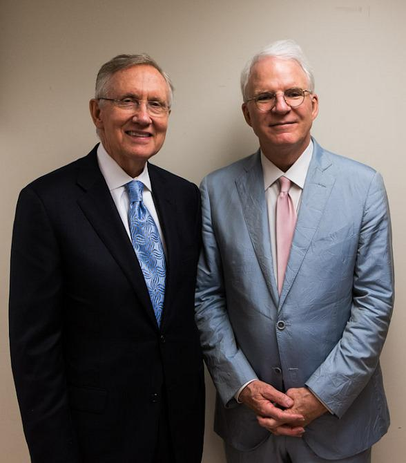 Senator Harry Reid and Steve Martin at The Smith Center For The Performing Arts in Las Vegas