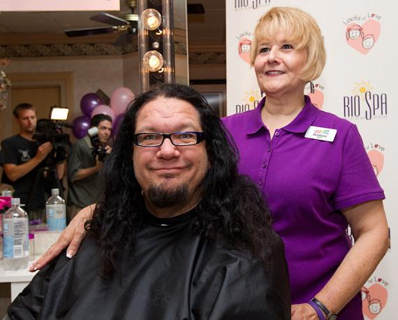 Penn Gets Haircut From Teller at Locks of Love Donation Event