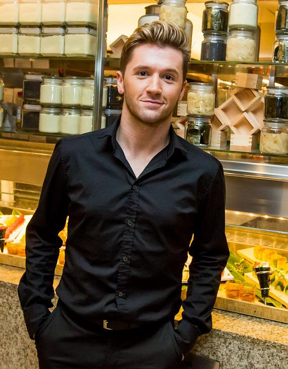 Travis Wall and friends perform a dance number inside Bacchanal Buffet at Caesars Palace