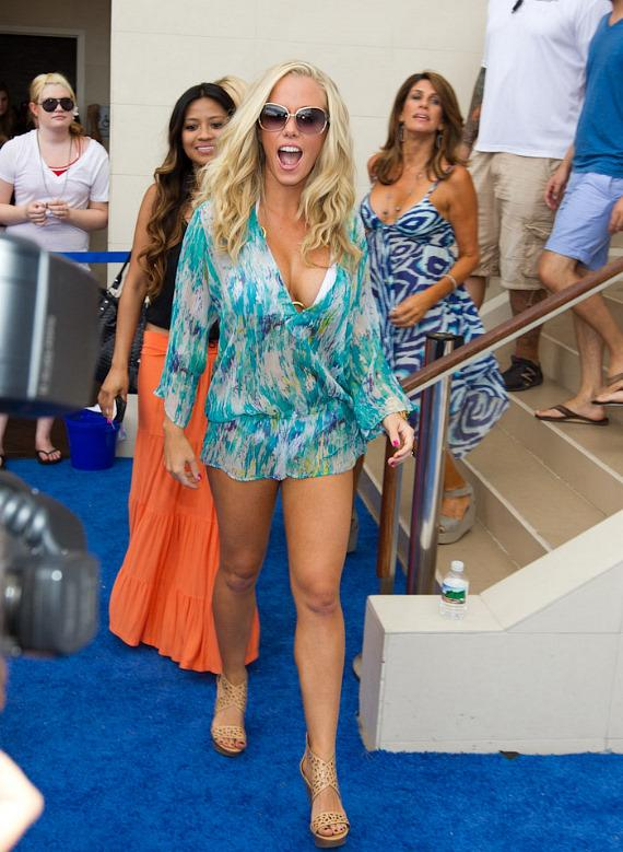 Kendra Wilkinson-Baskett Parties at WET REPUBLIC with Holly Madison and Jessica Hall