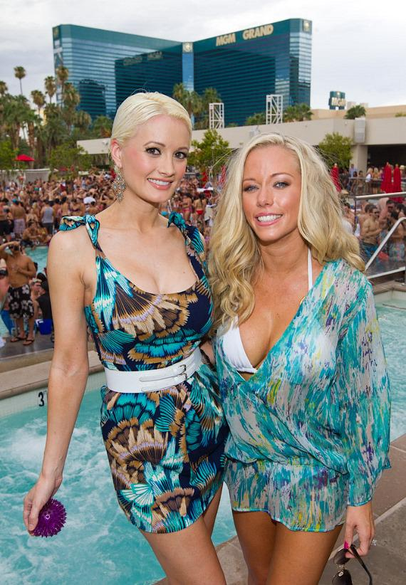 Holly Madison and Kendra Wilkinson-Baskett at WET REPUBLIC