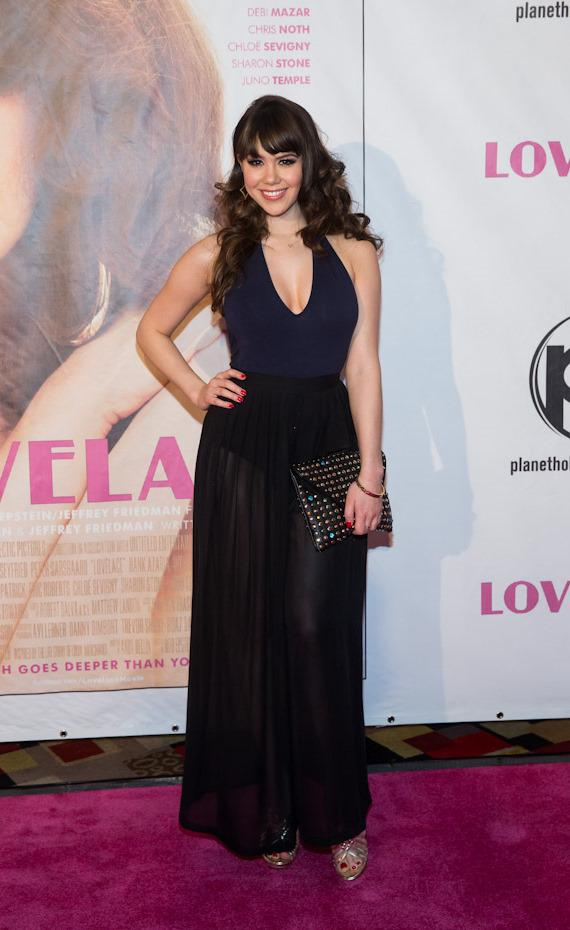 """Pin-Up star Claire Sinclair at """"Lovelace"""" Premiere in Planet Hollywood Las Vegas"""