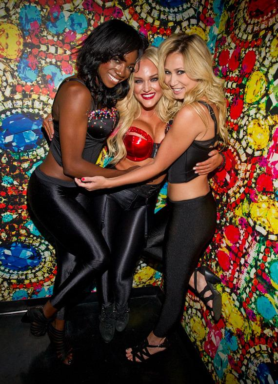Lacey Schwimmer and her dance partners at Vanity Nightclub in Hard Rock Hotel Las Vegas