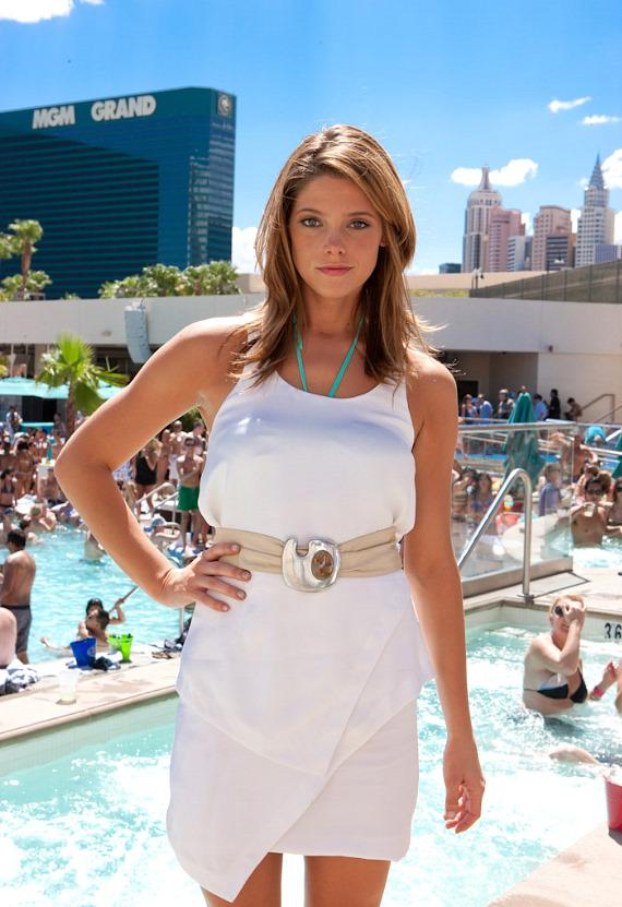 Ashley Greene Parties at WET REPUBLIC