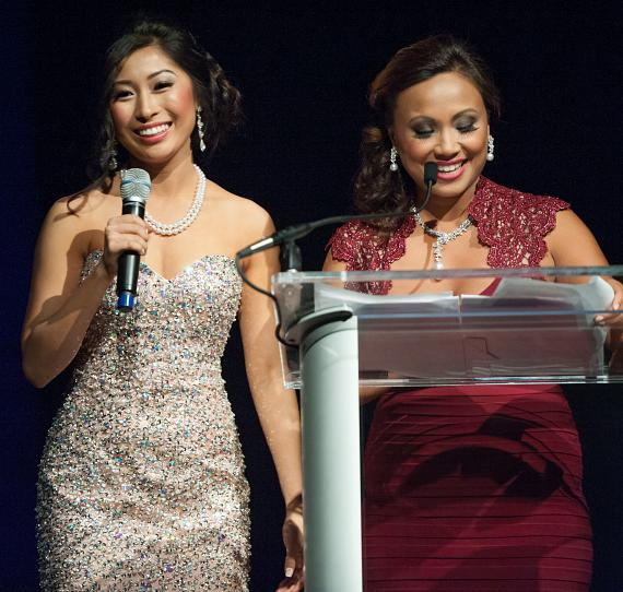 Catherine Ho and Emcee Patranya Bhoolsuwan