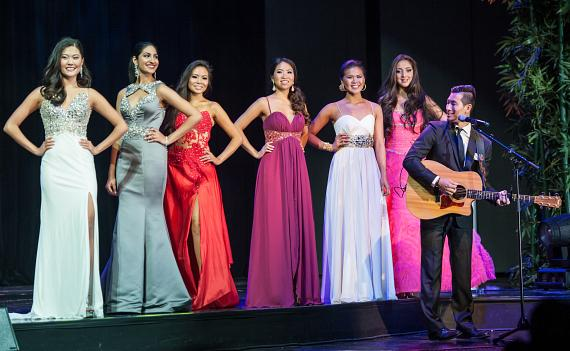 Local Musician Daniel Park Performs during Evening Gown Segment
